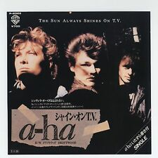 "a-ha - The Sun Always Shines On T.V. c/w Driftwood 7"" JAPAN 45"