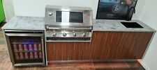 Outdoor Kitchen Designed for Weber or Beefeater BBQ 2661mm Stone/Comp Almn Drs