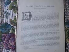 1888 Mitteilungen ...61 /  Habsburg... 7 Seiten / Brigantium Bregenz 19 Seiten