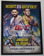 Mark Hunt Signed 2015 Topps Champions UFC Fight Night Bigfoot Silva Poster Card
