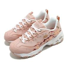 Skechers D Lites-Soft Blossom Rose Pink Floral White Women Casual 149239-ROS