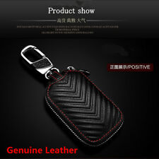 Genuine Leather Key Holder Men and Women Key Purse Remote Fob Case Car Universal