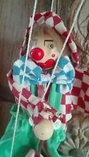 ((( CLOWN ACCORDÉONISTE marionnette à fils 25cm )))