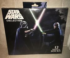 Star Wars Collection Men's 12 Days Of Socks ~ Advent ~ 4 Pr Crew / 8 Pr Low Cut