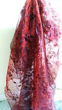 "New Burgundy Ribbon Organza Fashion Decorate Craft Fabric 60"" Wide By The Yard"