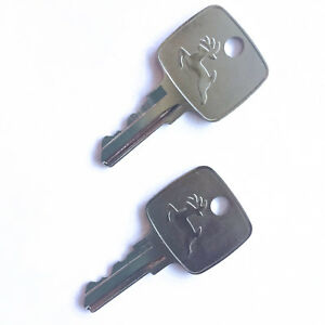 (2) John Deere AR51481 Ignition Keys fits Tractors and Heavy Equipment