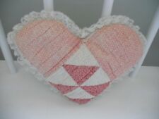 Vintage Quilted Patchwork Heart Pillow