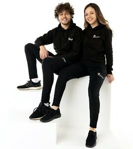 King or Queen Black Embroidered Hoodies Valentines Couples Matching Royalty Gift