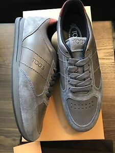 New Authentic Tod's Sportivo Rare Men Gray  Shoes Sneakers 6 7 $695