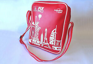 Emirates Fly with Me lonely planet kids ~ Messenger/Flight Bag ~ Red ~ V Good