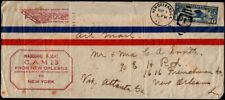 US Inagural Airmail Service (First Flight) Cover - CAM 23 New Orleans to Atlanta