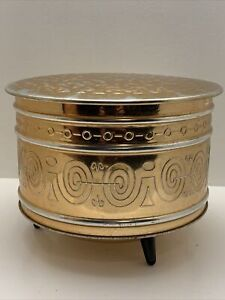 Vintage Copper Coffee TIN  Container Made in W.Germany Centerpiece Tin Decor