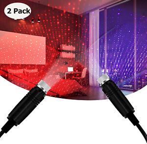 2 X USB Star Night Light Romantic Car Interior Roof Lights Projector for Bedroom