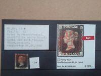 Penny Black GB Mi.Nr.1 Penny Black Klassik erste Briefmarke der Welt gestempelt