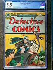 DETECTIVE COMICS #80 CGC FN- 5.5; OW; classic Two-Face cover!