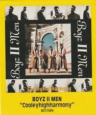 "RARE MUSIC PROMO STORE AD 5 1/2"" X 4 1/2"" - BOYZ II MEN - COOLEYHIGHHARMONY"