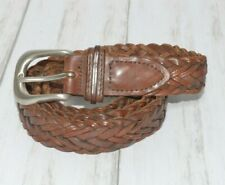Distressed Braided Leather Belt Size 34