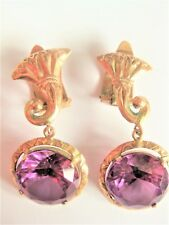 Ohrringe Rotgold 585 mit Amethyst, 9,08 g