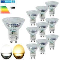 20/12/10/4er 4W GU10 MR16 LED Birne Leuchtmittel SMD Lampen Warmweiß Kaltweiß A+