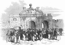 HANTS. James Gate, Portsmouth-Liberty-Men returning, antique print, 1856