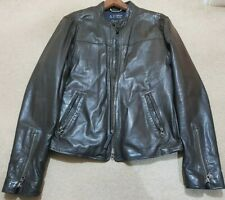 Mens Armani Jeans  Leather Jacket