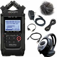 ZOOM H4n PRO Recorder + APH4n Zubehör-Set + keepdrum Kopfhörer
