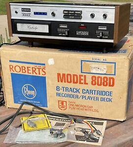 Vintage Rheem Roberts 808D 8-Track Tape Recorder Player In Original Box