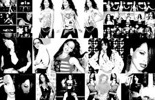 "Aaliyah ""Black Light"" Collage Poster"