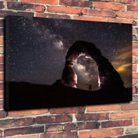 """Night Arch"" Milky Way Printed Box Canvas Picture A1.30""x20""30mm Deep Wall Art"