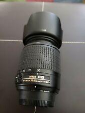 Nikon DX AF-S Nikkor 55-200mm 1:4-5.6G ED VR SWM Lens w/ caps and lens hood