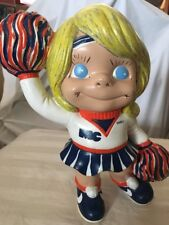 1970's Vintage Atlantic Mold Cheerleader Statue Mississippi College? NIKE 10""