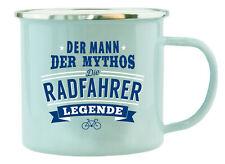 HTI-Living Echter Kerl Emaille Becher Radfahrer Kaffee Tee Männergeschenk