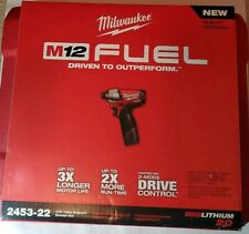 "Milwaukee 2453-22 M12 FUEL 1/4"" Hex Impact Driver Kit *Brand New*"