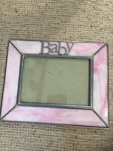 Baby Pink Stained Glass Picture Frame 7.5x6
