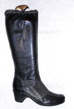 JOSÉ SAENZ bottes zippées cuir noir et gris mollet large P 41 TBE 81ff56fc9ec8