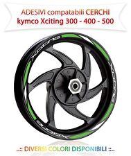 MOTORCYCLE RIM STRIPES WHEEL TAPE BIANCO GIALLO KYMCO XCITING 300-400-500