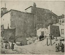 JOHN BULLOCH SOUTER (1890-1971) Signed Etching GRAN VIA MADRID - 20TH CENTURY