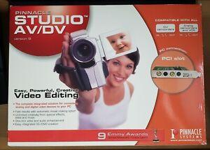 Pinnacle Studio 9 AV/DV PCI capture card Composite/S-Video/FireWire w. Software