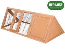Heritage Wooden Triangle Rabbit Hutch Run Cage Guinea Pig Ferret Coop Outdoor