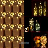 12Pcs 20-LED Wine Bottle Cork Lights Copper Wire Party LED Light DIY Decor Lamp