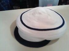 NWT Made Of Me Black White News Paper Boy Cap Cabbie Hat Beanie Beret Retail $24