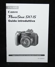 Canon Power Shot SX1 IS - Italian Camera User Manual