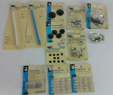 NEW LOT Dritz Hooks Eyes Half Ball Cover Buttons Marker Sew On Snaps Notions