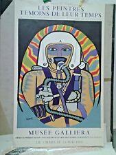 AFFICHE ANCIENNE MUSEE GALLIERA ANDRE LHOTE MOURLOT PARIS 1959