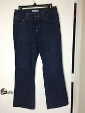 LEE PERFECT FIT Just below the waist WOMENS BOOT CUT BLUE JEANS SIZE 10