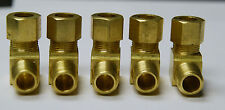 Brass Compression 90° Male Elbow Fitting 3/8