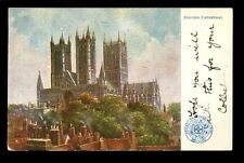 Lincs LINCOLN Cathedral Railway GER OFFICIAL vintage PPC 1905