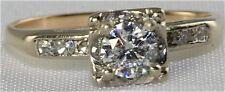 ANTIQUE 14K GOLD .62 CARAT DIAMOND ENGAGEMENT RING