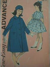 Vintage 50s Advance CHUB DEBS DRESS & COAT Sewing Pattern Girl UNCUT Chubbies