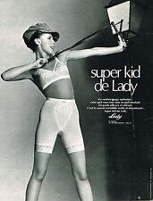 PUBLICITE ADVERTISING  1969   LADY  soutien gorge sous vetements  SUPR KID